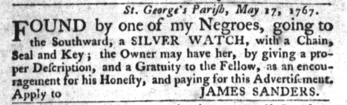 Jun 23 - South-Carolina Gazette and Country Journal Slavery 8