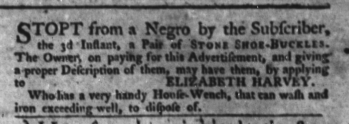 Jun 23 - South-Carolina Gazette and Country Journal Supplement Slavery 2