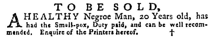 Jun 25 - Pennsylvania Gazette Supplement Slavery 1