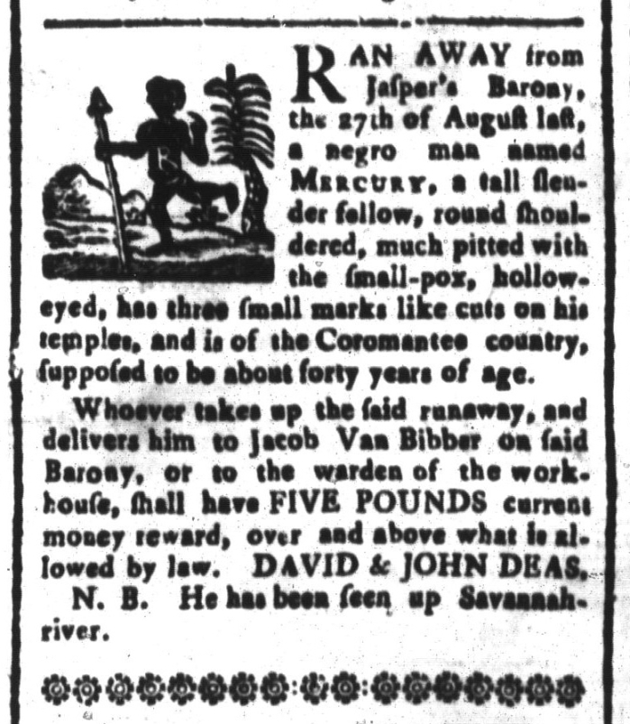 Jun 26 - South-Carolina and American General Gazette Slavery 2