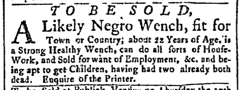 Jun 29 - New-York Gazette Slavery 2