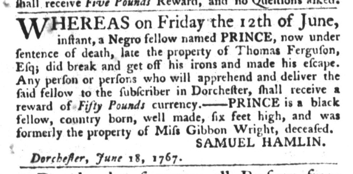 Jun 30 - South-Carolina Gazette and Country Journal Slavery 7