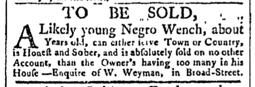 Aug 3 - New-York Gazette Slavery 1