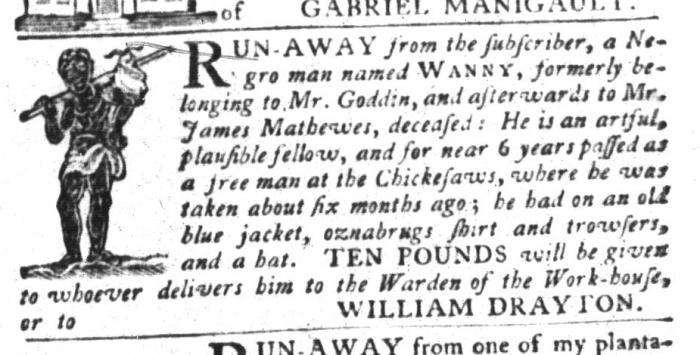 Aug 4 - South-Carolina Gazette and Country Journal Slavery 7