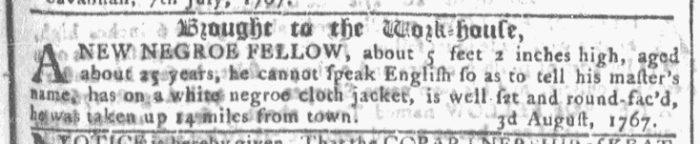 Aug 5 - Georgia Gazette Slavery 1