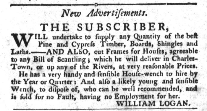 Jul 14 - South-Carolina Gazette and Country Journal Slavery 10