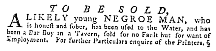 Jul 23 - Pennsylvania Gazette Supplement Slavery 3