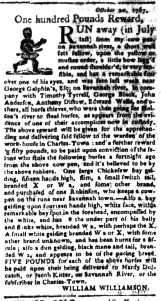 Jul 27 - South Carolina Gazette Slavery 7