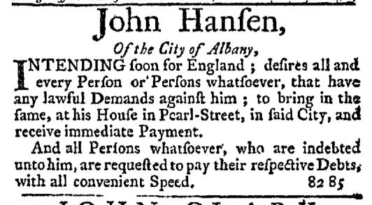 Jul 30 - 7:30:1767 New-York Journal