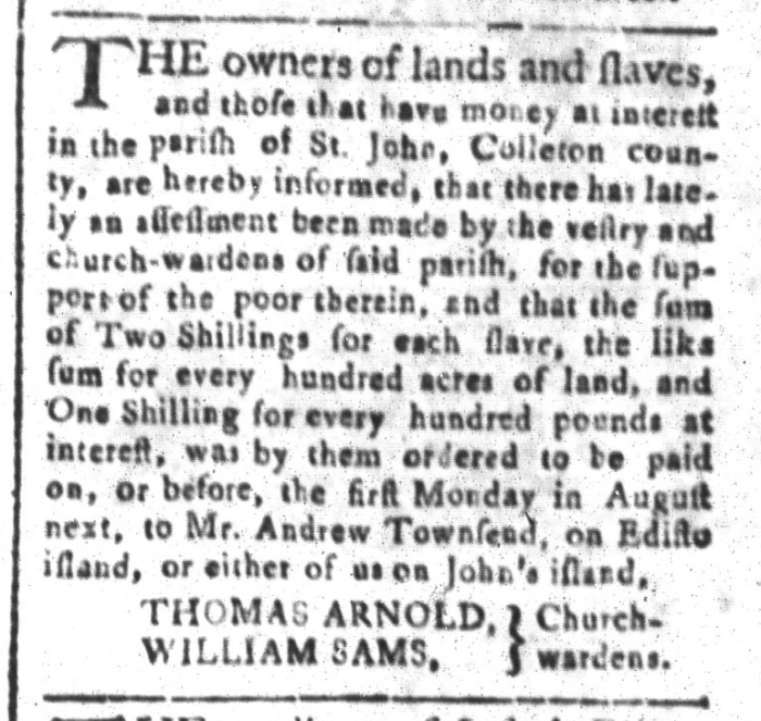 Jul 31 - South-Carolina and American General Gazette Slavery 5