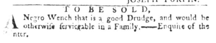 Aug 11 - South-Carolina Gazette and Country Journal Slavery 1
