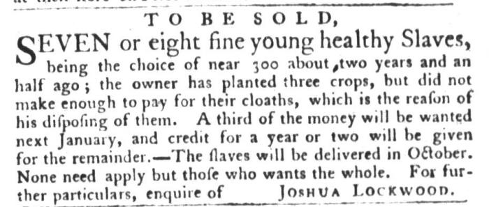 Aug 11 - South-Carolina Gazette and Country Journal Slavery 2