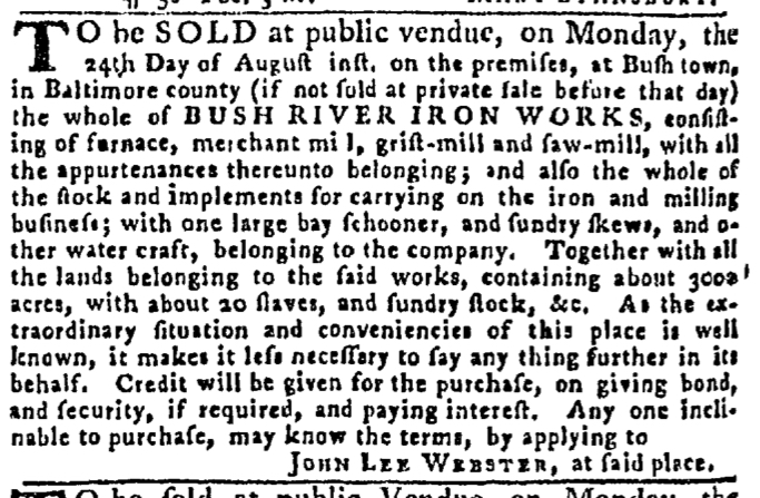 Aug 13 - Pennsylvania Gazette Slavery 2