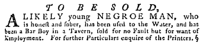 Aug 13 - Pennsylvania Gazette Supplement Slavery 1