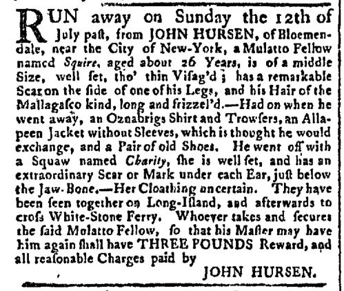 Aug 17 - New York Gazette Slavery 1