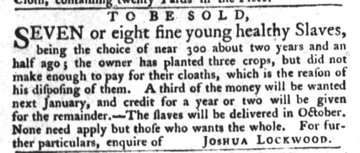 Aug 18 - South-Carolina Gazette and Country Journal Slavery 5
