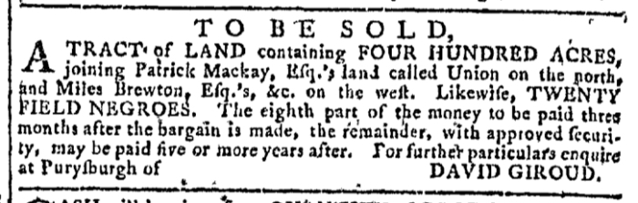 Aug 19 - Georgia Gazette Slavery 5
