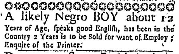 Aug 20 - Massachusetts Gazette Slavery 2