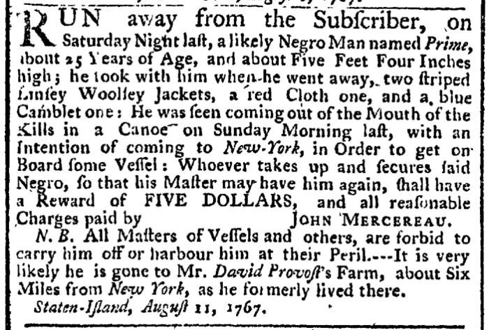 Aug 20 - New-York Gazette Weekly Post-Boy Slavery 1