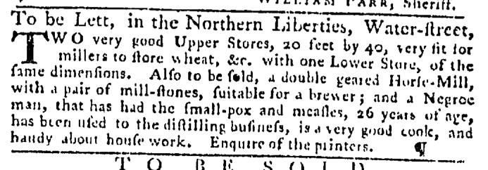 Aug 20 - Pennsylvania Gazette Slavery 1