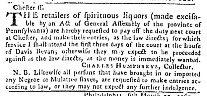 Aug 20 - Pennsylvania Gazette Slavery 2