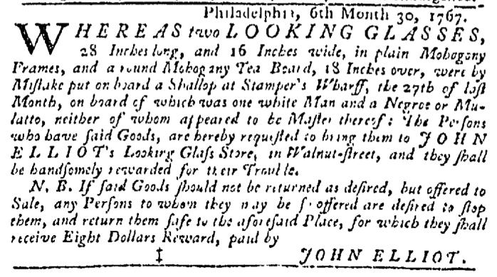 Aug 20 - Pennsylvania Gazette Slavery 3