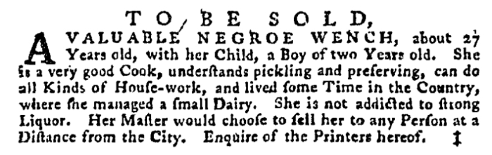 Aug 20 - Pennsylvania Gazette Supplement Slavery 1