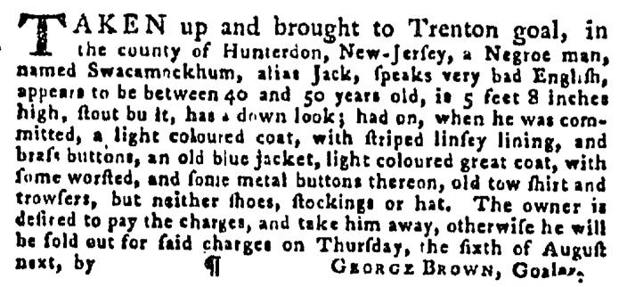 Aug 20 - Pennsylvania Gazette Supplement Slavery 3