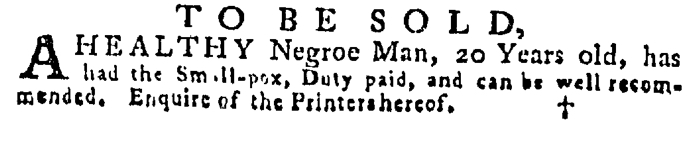Aug 20 - Pennsylvania Gazette Supplement Slavery 5