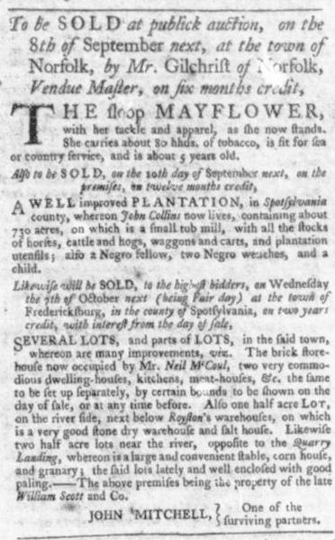 Aug 20 - Virginia Gazette Slavery 3