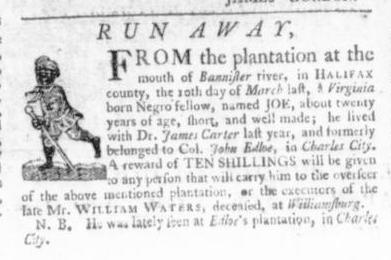 Aug 20 - Virginia Gazette Slavery 5
