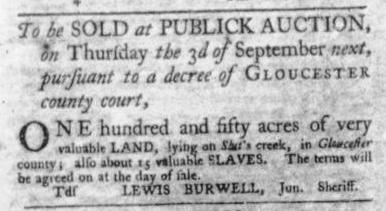 Aug 20 - Virginia Gazette Slavery 7
