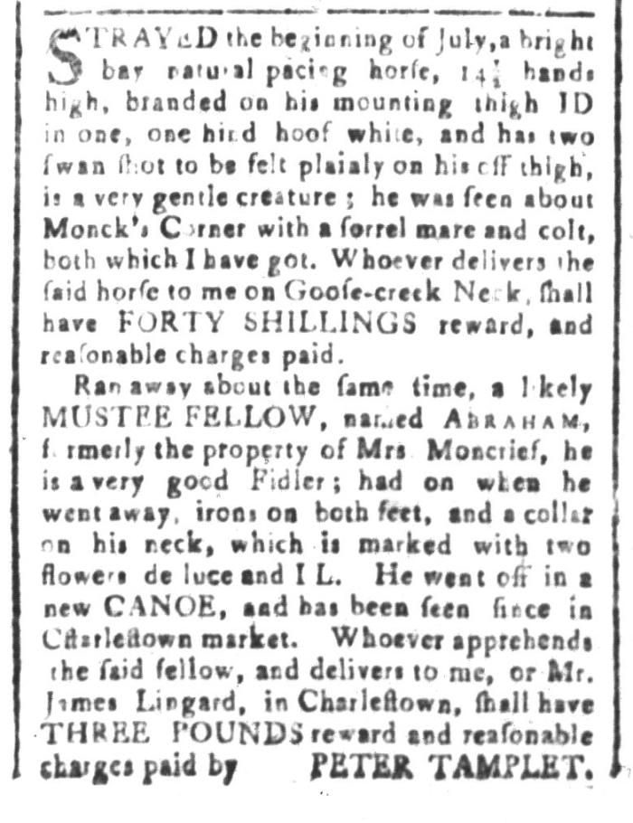 Aug 21 - South-Carolina and American General Gazette Slavery 5