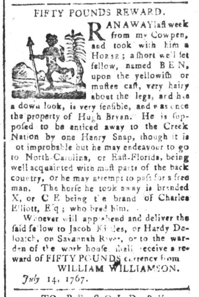 Aug 21 - South-Carolina and American General Gazette Slavery 7