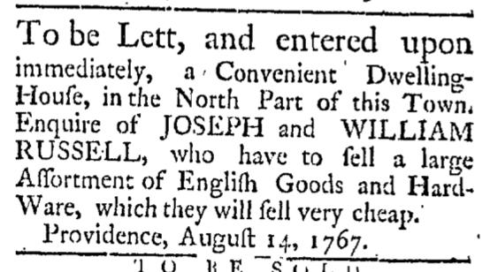 Aug 22 - 8:22:1767 Providence Gazette