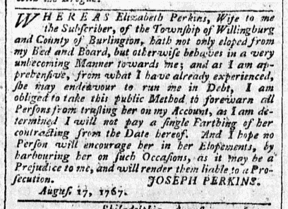 Aug 24 - 8:24:1767 Advert Pennsylvania Chronicle