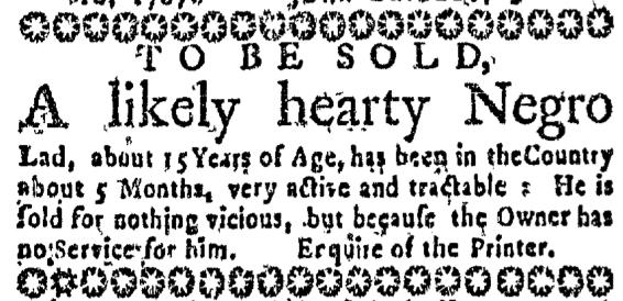 Aug 27 - Massachusetts Gazette Slavery 2
