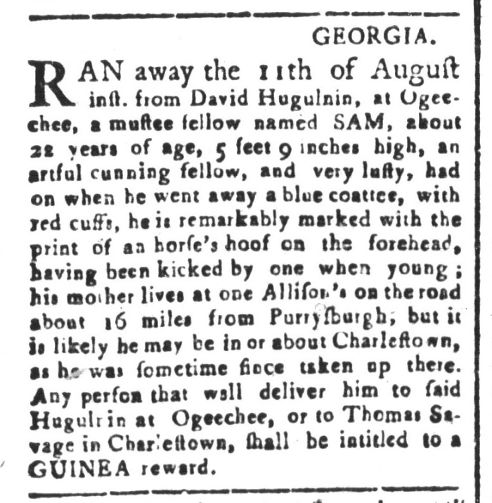 Aug 28 - South-Carolina and American General Gazette Slavery 1