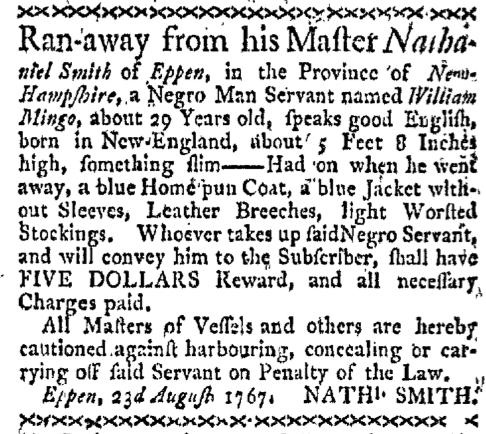 Aug 31 - Boston-Gazette Slavery 1