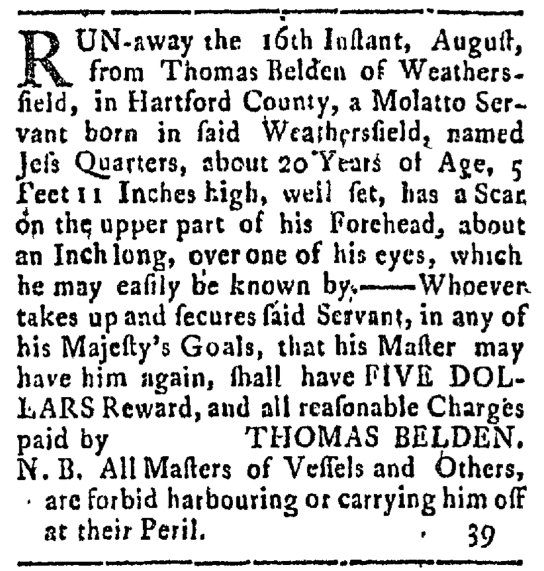 Aug 31 - Connecticut Courant Slavery 1