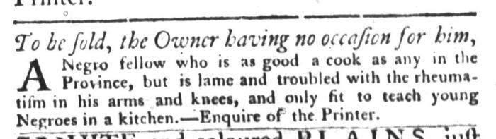 Aug 4 - South-Carolina Gazette and Country Journal Slavery 11