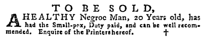 Aug 6 - Pennsylvania Gazette Supplement Slavery 2