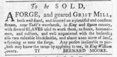 Aug 6 - Virginia Gazette Slavery 6