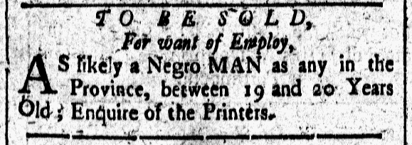 Aug 7 - New-Hampshire Gazette Slavery 2