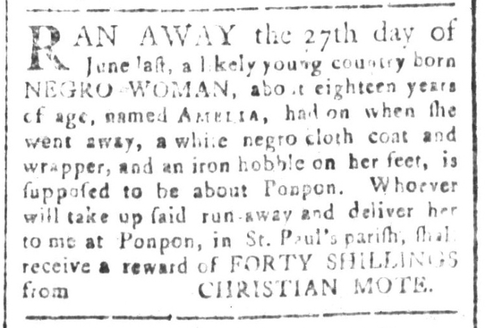 Aug 7 - South-Carolina and American General Gazette Slavery 3