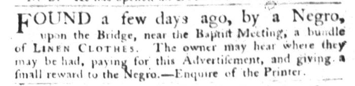 Sep 1 - South-Carolina Gazette and Country Journal Slavery 1