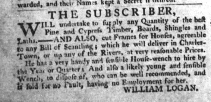 Sep 1 - South-Carolina Gazette and Country Journal Supplement Slavery 4