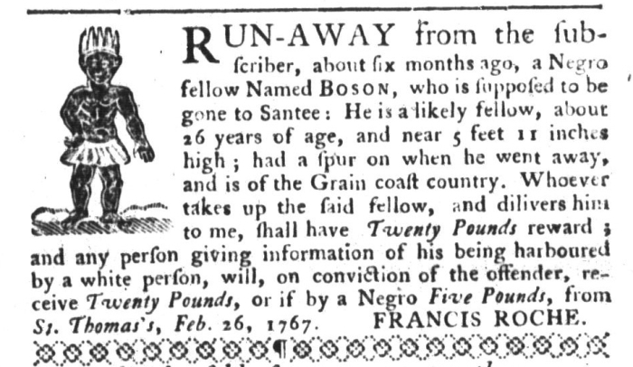 Sep 1 - South-Carolina Gazette and Country Journal Supplement Slavery 6