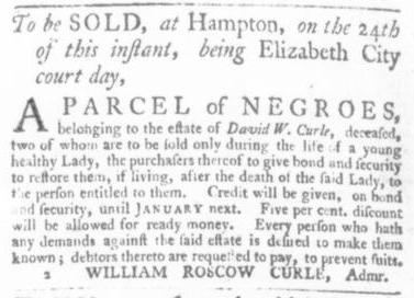 Sep 10 - Virginia Gazette Slavery 1