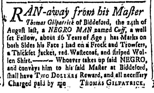 Sep 11 - New-Hampshire Gazette Slavery 1